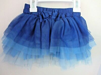 CHILDREN's PLACE~Blue SATIN & TULLE TIERED SKIRT ~Toddler Girl 18 Months