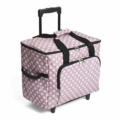 1x Value  Sewing Machine Trolley Bag Mauve Spot Sewing Craft Tool Hobby