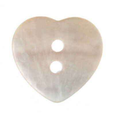20x Dyed Heart Agoya Shell 24 lignes/15mm Natural Sewing Craft Tool Art