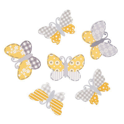 5x Craft Embellishments Assorted Butterflies PK of 6 Sewing Craft Tool