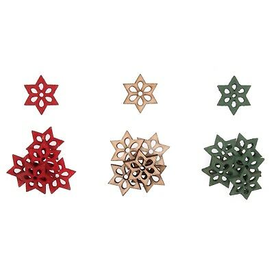 5x Craft Embellishment Wooden Small Stars PK of 18 Sewing Craft Tool UK