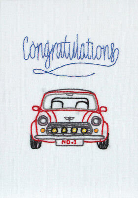 1x Embroidery Kit Card Congratulations Sewing Craft Tool Hobby Art UK