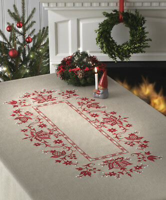 1x Embroidery Kit Christmas Tablecloth Sewing Craft Tool Hobby Art UK