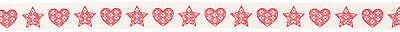 Bowtique Christmas Knitted Hearts & Stars 25mx15mm Sewing Craft Art