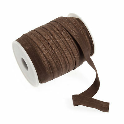 22x Fold Over Elastic 22.75mx16mm Brown Sewing Craft Tool Hobby Art UK