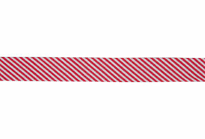 25x Bias Binding Cotton Printed Stripes 25mx20mm Red Sewing Craft Tool