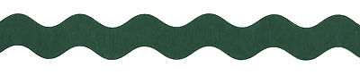 25x Giant Felt Ric Rac 25mx35mm Green Sewing Craft Tool Hobby Art UK