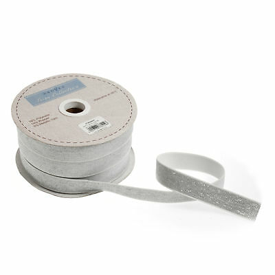 25m x Elastic Metallic Silver 25mx20mm White Sewing Craft Tool Hobby Art