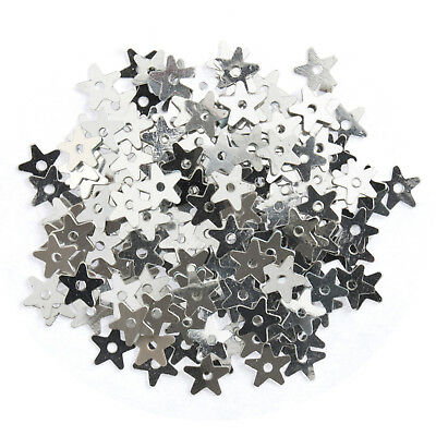 3x Sequins Extra Value Stars Small Silver 3 PKs of 500 Sewing Craft Art