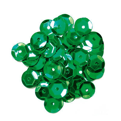 3x Sequins Extra Value Cup 8mm Green 3 PKs of 600 Sewing Craft Tool Art