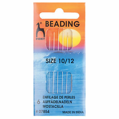 5x Hand Sewing Thread Needles Beading Gold Eye Size 10/12 Sewing Craft Tool UK