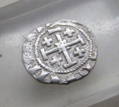 Ancient Byzantine Silver Hammered Crusaders Coin