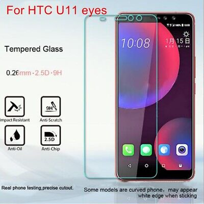 2 X  Premium Tempered Glass Screen Protector Cover Film for HTC U11 eyes Phone