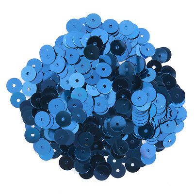 5x Sequins Flat 6mm Royal Blue 12g Sewing Craft Tool Hobby Art UK Bulk Filoro