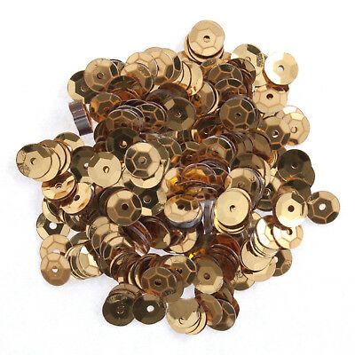 5x Sequins Cup 6mm Gold 9g Sewing Craft Tool Hobby Art UK Bulk Filoro