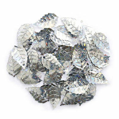 5x Sequins Leaf Holographic Silver 5 PKs of 2.5g Sewing Craft Tool Art