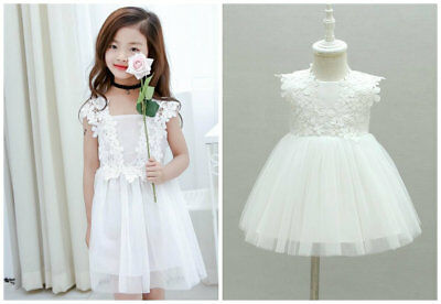 1pc toddler baby summer clothes girls lace dress baptism birthday princess dress