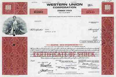Western Union WUI 1973 Rochester Hiram Sibley Mississippi Valley First Data 100