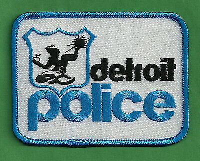 Detroit Michigan Police Patch