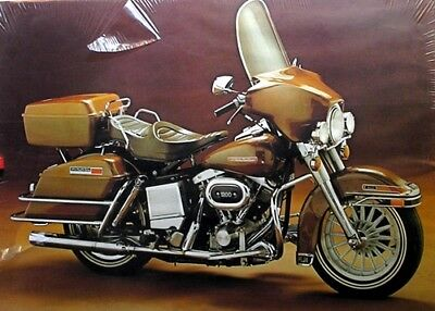 Poster - AMF Harley Davidson 1200 Shovelhead Motorcycle - King of the Highway