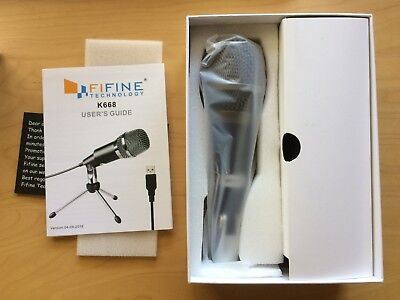 FIFINE TECHNOLOGY USB Microphone Plug &Play Home Studio USB Condenser Mic K668