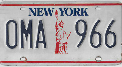 Iconic New York Statue Of Liberty Name License Plate # Oma 966  Grandmother Oma