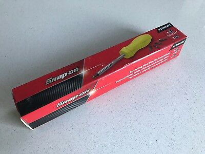 "*NEW* Snap On 8-3/4"" Ratcheting Standard Yellow Hard Handle Screwdriver SSDMR4BY"