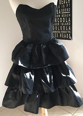 Vintage 80s PROM dress COCKTAIL party HENS bridesmaid FORMAL ra-ra BARBIE