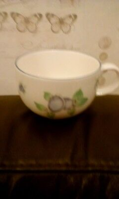 Royal Doulton Everyday Blueberry 1994 Fine Bone China Cup 9Cm High 6Cm Diameter