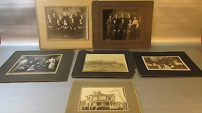 Vintage photo lot of 6 LARGE family photo photograph OLD antique