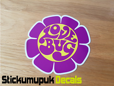 Volkswagen Love Bug Flower VW Beetle Sticker Colour Choice Decal Car Van Bug Dub