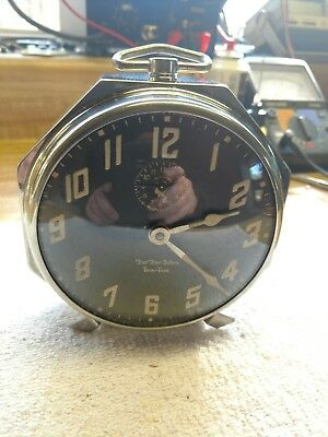Rare Antique New Haven True Time Tellers Tom Tom Alarm Clock-Circa 1926-Serviced