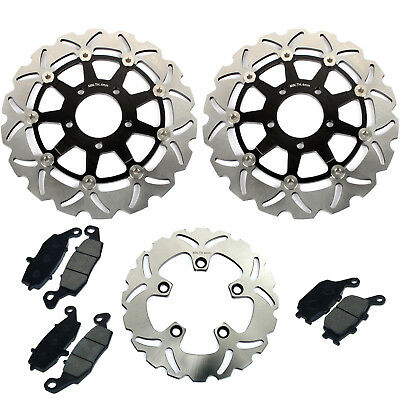 For SV650 03-10 SV 650 S 03-12 11 09 08 07 06 Front Rear Brake Discs Rotors Pads