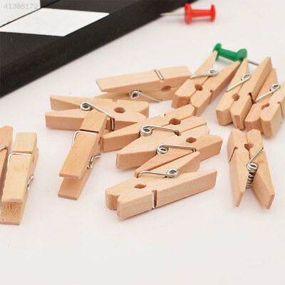 50Pcs/Pack Mini Photo Clothes Clip Holder Wooden Home Dormitory Clothespin Peg