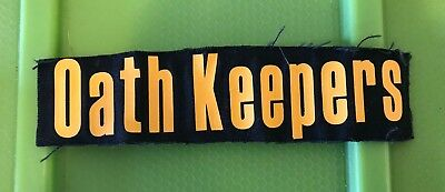 oath keepers patch reflective black with yellow
