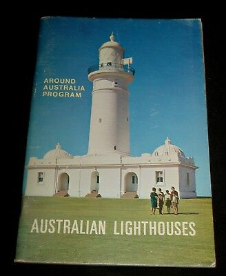 AUSTRALIAN LIGHTHOUSES by JOHN NOBLE 1967 - WITH ALL UNUSED STICKERS !