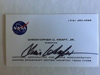 Chris kraft nasa flight director signed autographed business card chris kraft autograph nasa flight director apollo mercury gemini business card colourmoves