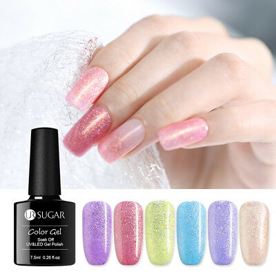 UR SUGAR 7.5ml Nail UV Gel Polish Glitter Shiny Soak off Nail Art UV Gel Varnish