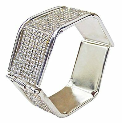 New Silver Plated Wedding Bangle Indian Designer Bracelet Fashion Jewelry KN16