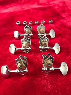 Grover Sta-Tite Guitar Tuners 14:1 ~ 3x3 ~ 3 a Side ~ Chrome
