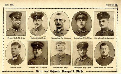 WW I Knights of the Iron Cross  German Hero Public Notice from: 1918.34