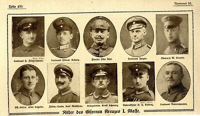 WW I Knights of the Iron Cross  German Hero Public Notice from: 1918.16