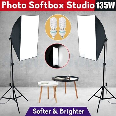 1350W Photography Studio Softbox Continuous Lighting Adjustable Light Stand Kit