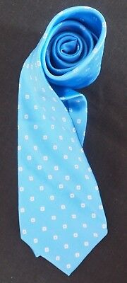 8a7349ed8230 Dkny Jacquard Silk Tie In Sky Blue Off White Diamonds Within Squares Nmcond