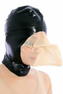 142 Latex Rubber Gummi breathing bag Mask Hood customized catsuit 0.4mm clubwear