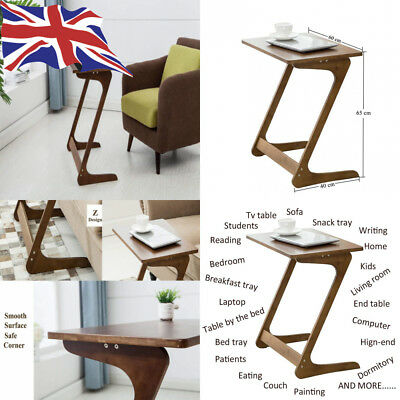 Sofa Table Tv Tray Nnewvante Laptop Desk Removable Side Snack End For Coffee Bed Eating Writing Reading Living Room Chestnut Colour Christmas