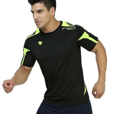 Men's Short Sleeve Quick Dry Outdoor Sports Running Workout T-Shirt Gym Tops AU