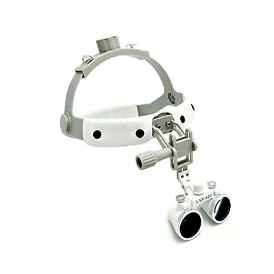 Dental 3.5X Loupes Surgical Binocular Glass Medical Magnifier Leather Headband