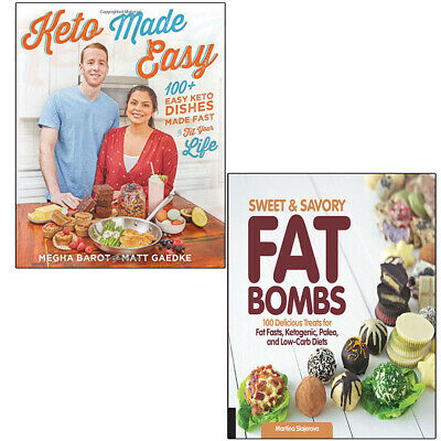 Keto Made Easy Sweet and Savory Fat Bombs 2 Books Collection Set Brand NEW