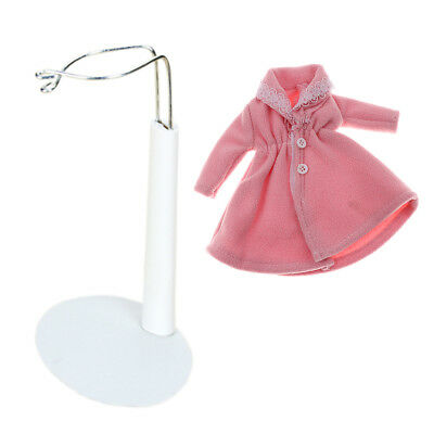 Doll White Display Stand And Winter Coat Outfit Accessories For Barbie Dolls